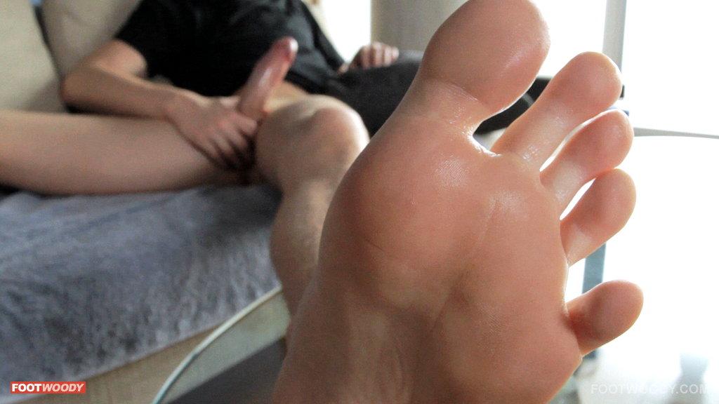 lick his feet