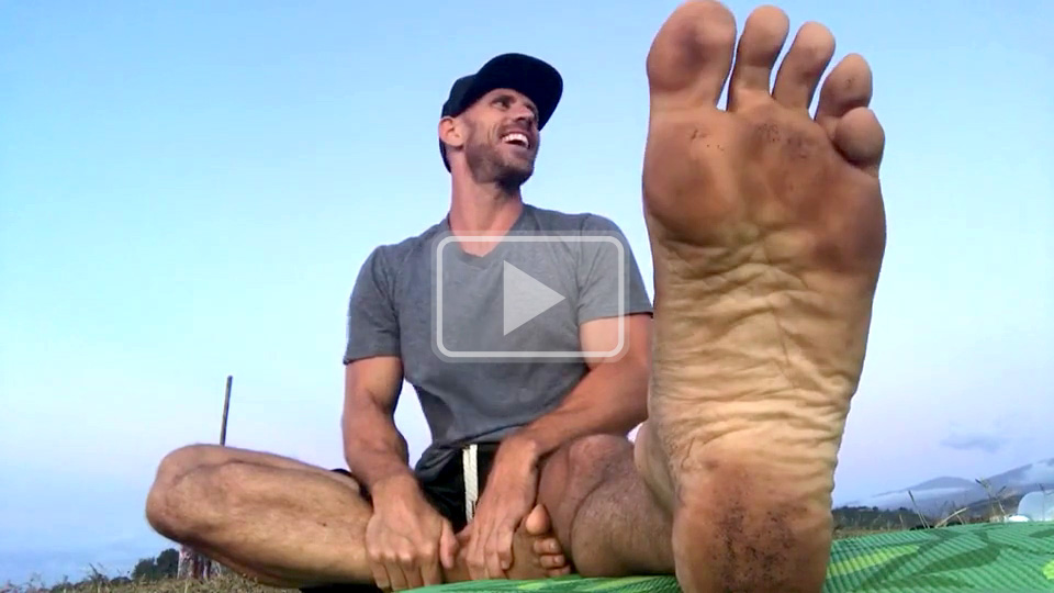dirty yoga feet soles