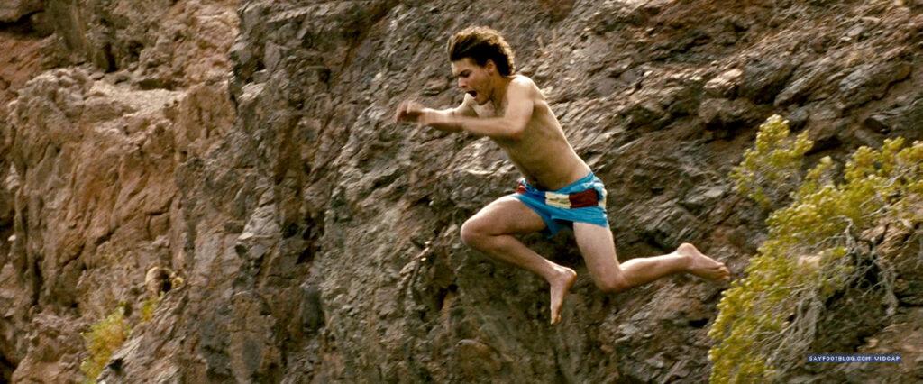 emile hirsch jumping off a cliff