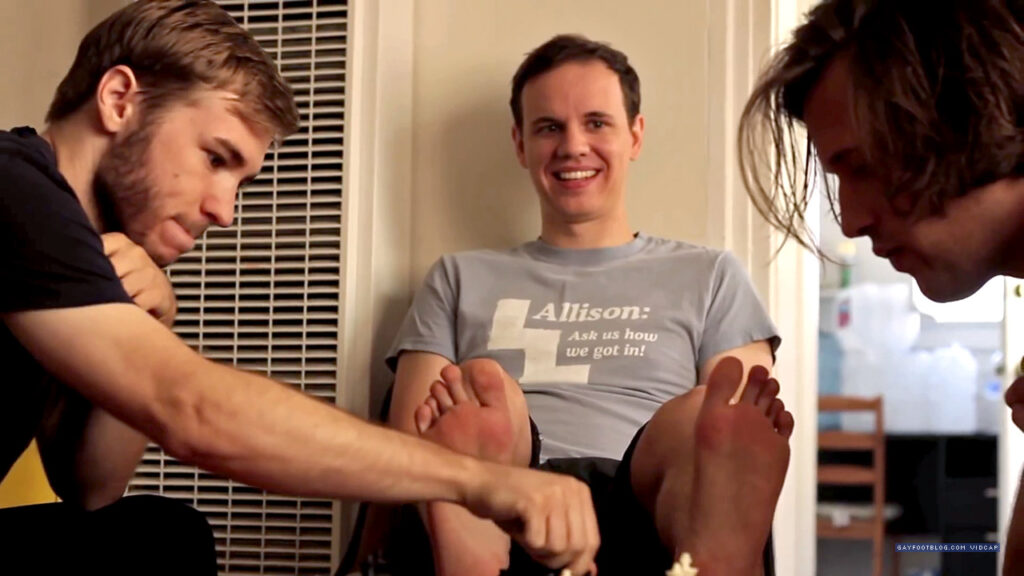 """Thomas says, """"Don't you dare tickle my feet!"""""""