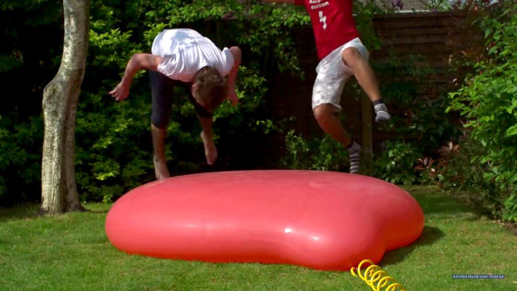 Jumping On Balloon